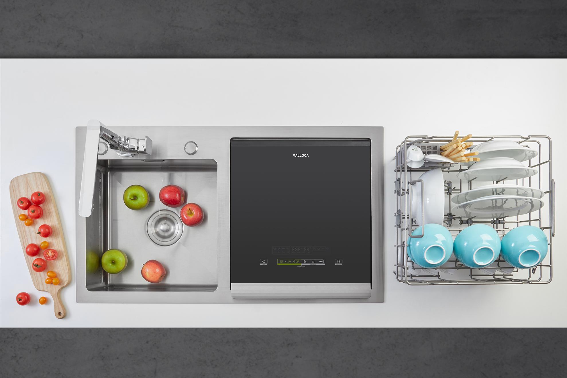 Review sản phẩm Máy rửa chén tích hợp 3 trong 1 Malloca