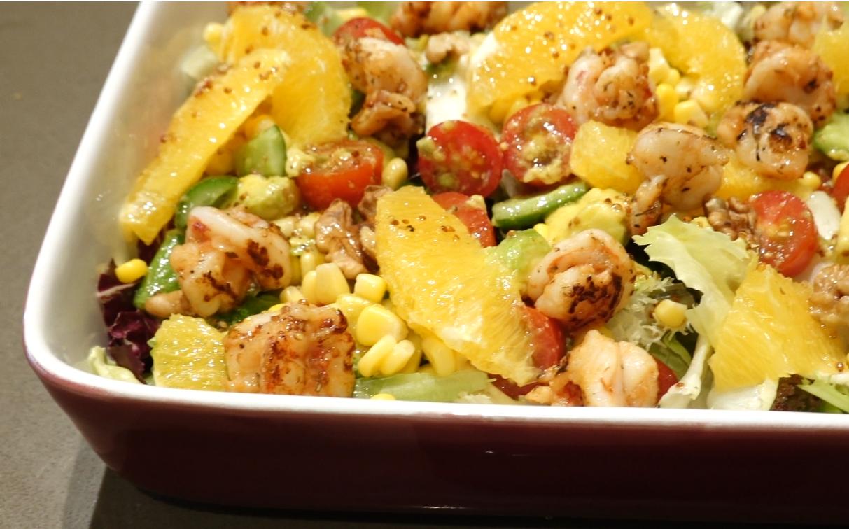 Salad Tôm sốt dấm táo mật ong