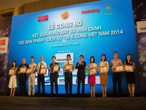 MALLOCA ĐƯỢC VINH DANH TẠI LỄ TRAO GIẢI TIN & DÙNG VIỆT NAM 2014