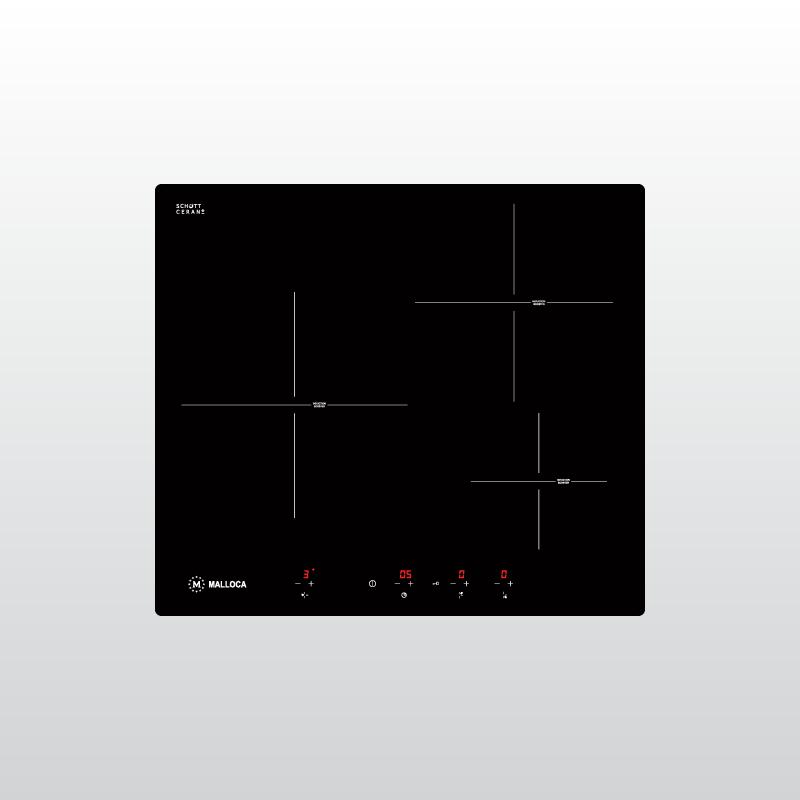 Bếp kính âm 3 từ MI 593 BN