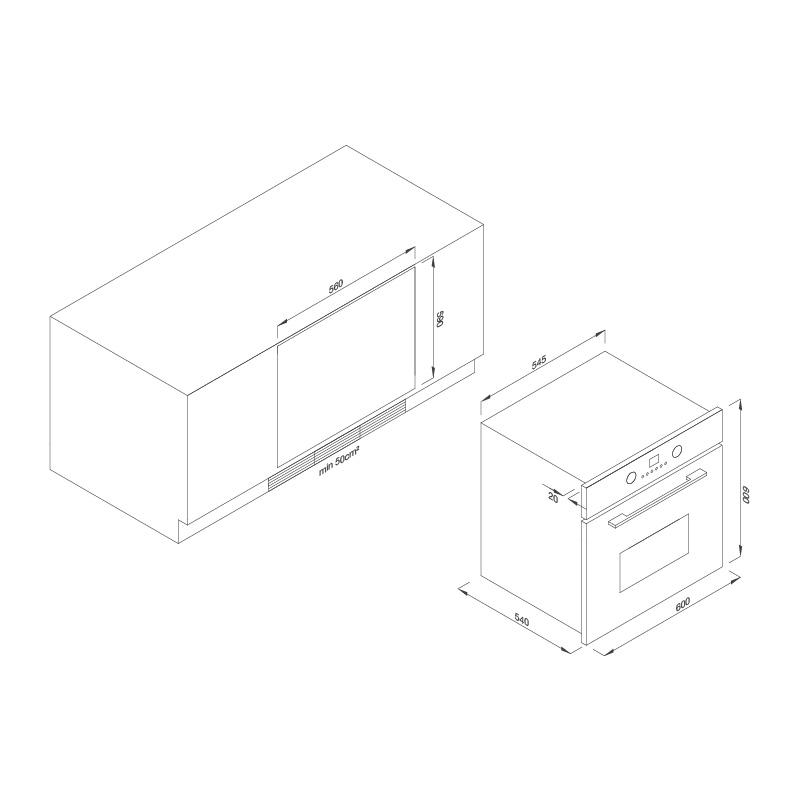 Lò nướng âm tủ EB-56ERCDG-8BC40