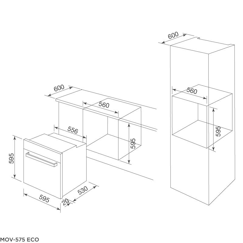 Lò nướng âm tủ MOV-575 ECO