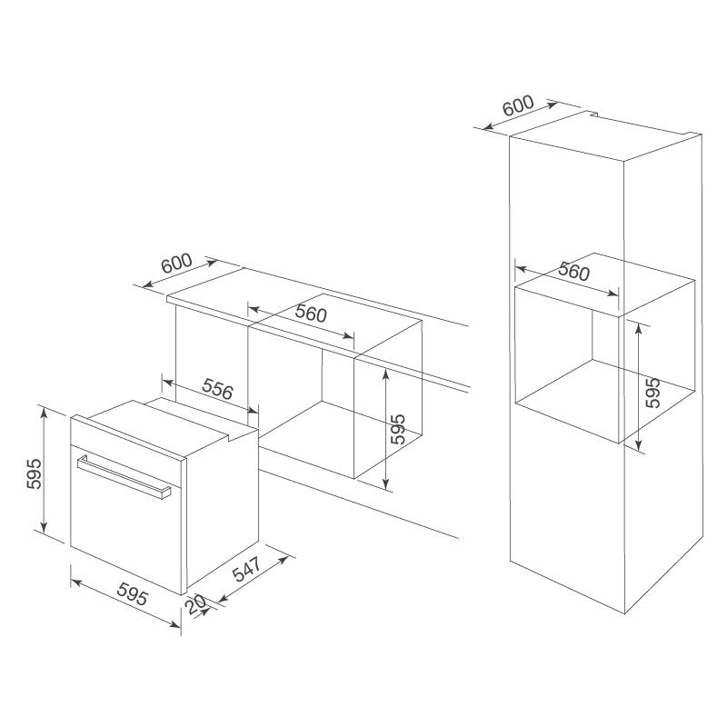 Lò nướng điện âm tủ MOV-726 MC