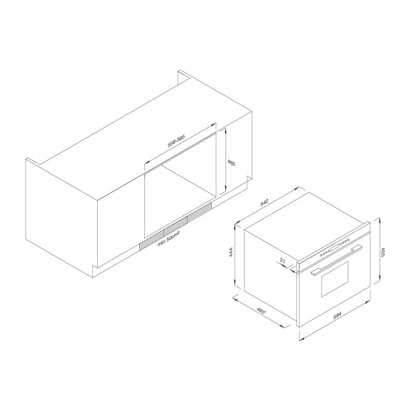 Lò hấp âm tủ  MST35-IX03