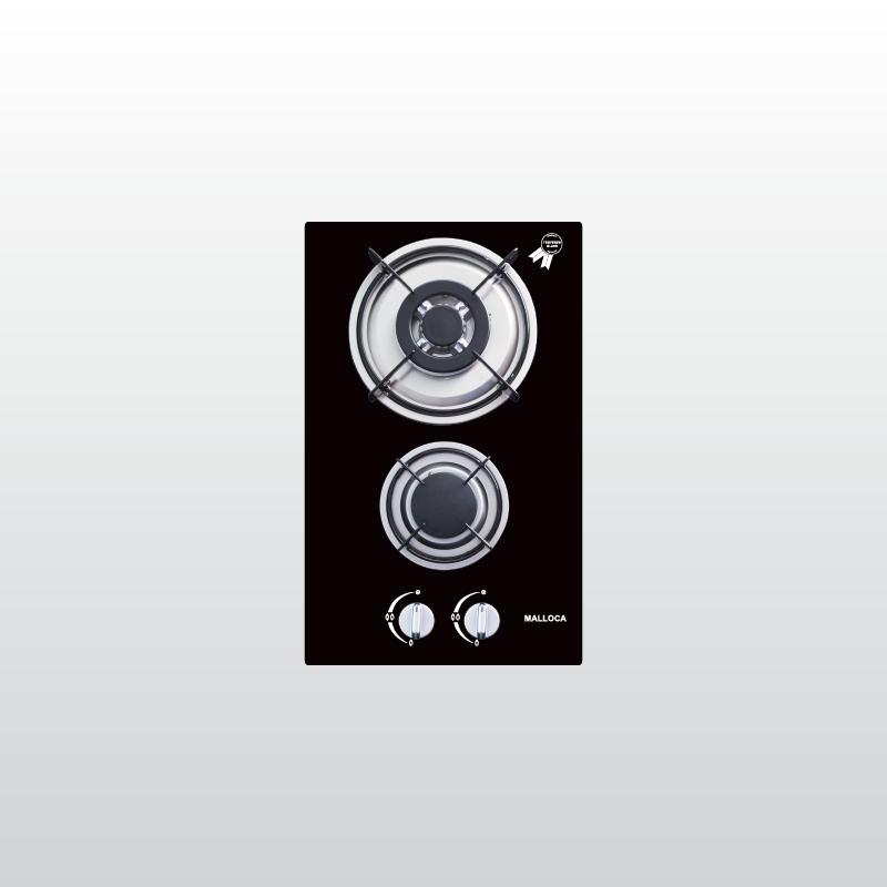 Bếp kính âm 2 gas Domino DG 02