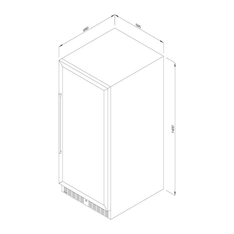 Tủ bảo quản rượu đứng độc lập MWC-120DC