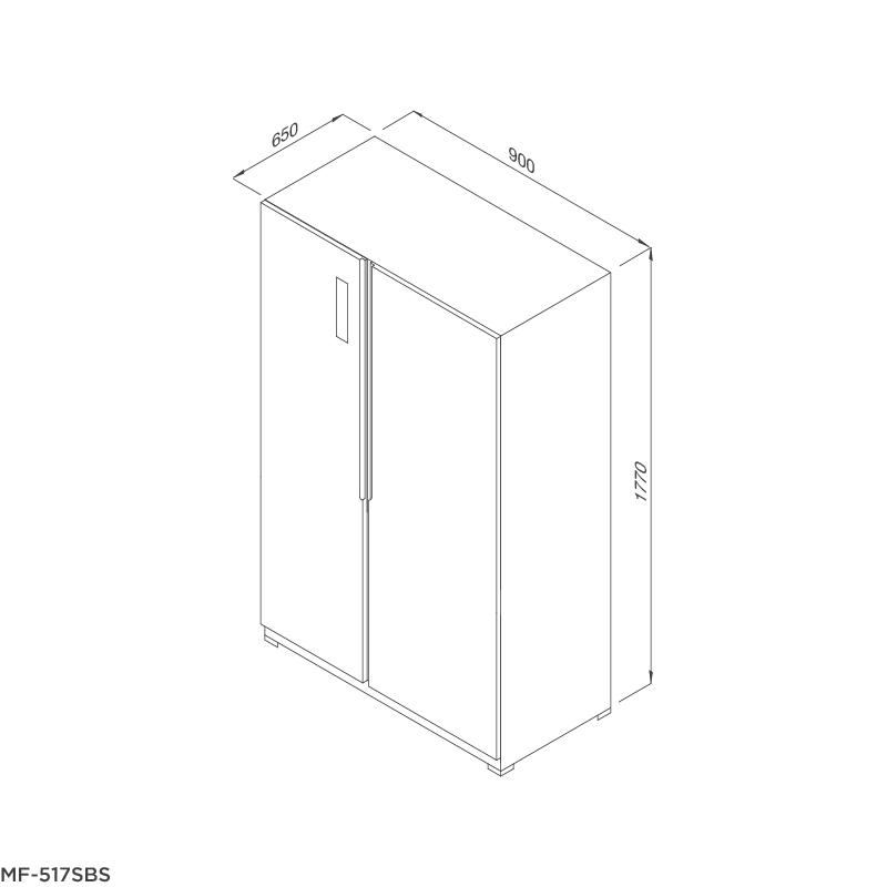 Tủ lạnh Side by Side MF-517SBS