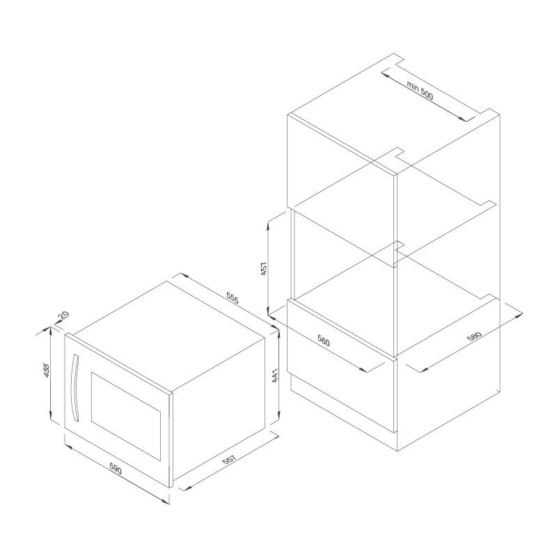 Tủ bảo quản rượu âm tủ MWC-22G