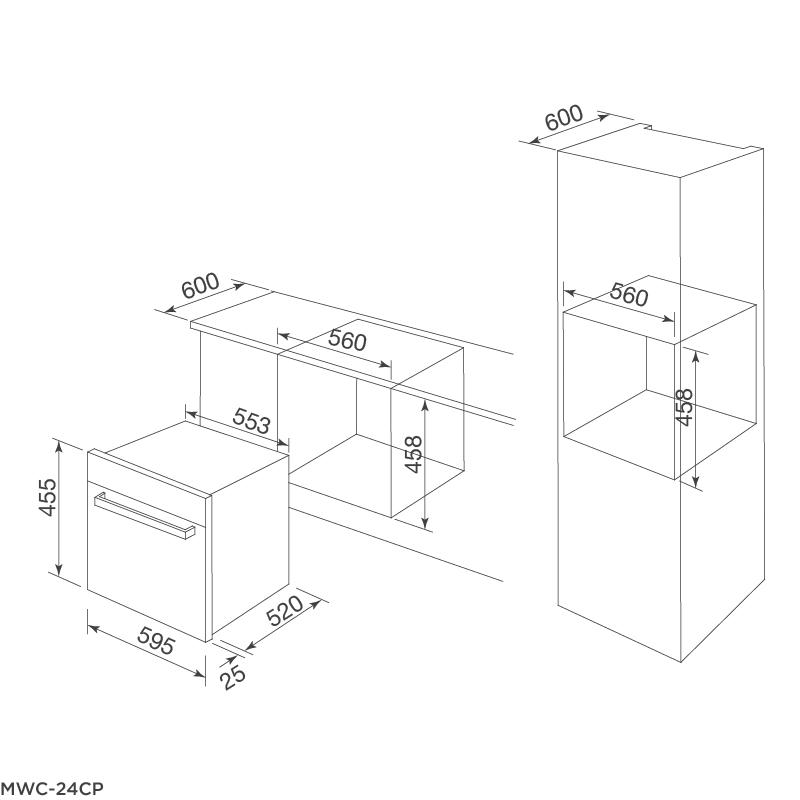 Tủ bảo quản rượu âm tủ MWC-24CP