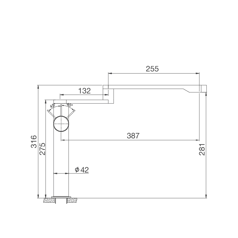 Vòi rửa chén K060-S