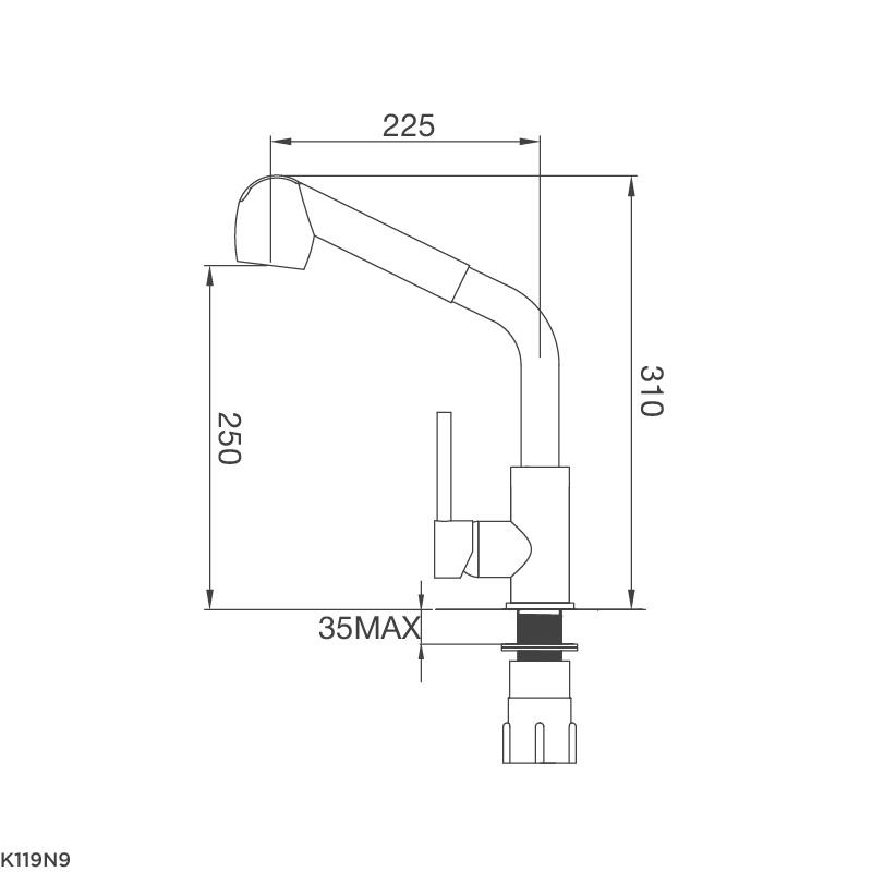 Vòi chậu rửa chén K119N9