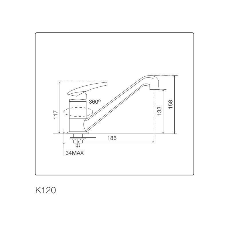Vòi chậu rửa chén K120