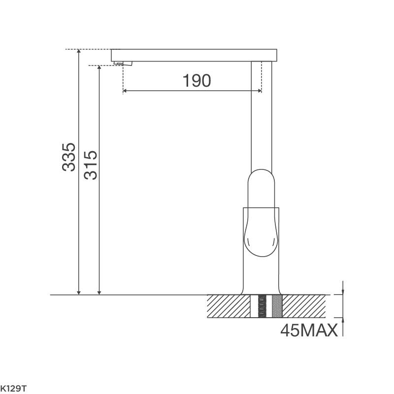 Vòi chậu rửa chén K129T