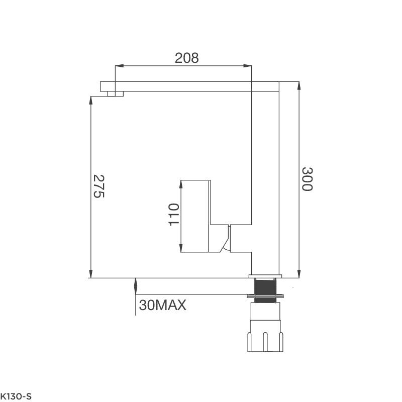 Vòi rửa chén K130-S