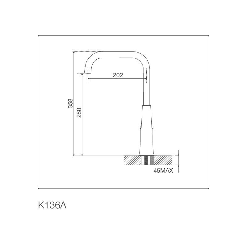 Vòi chậu rửa chén K136A