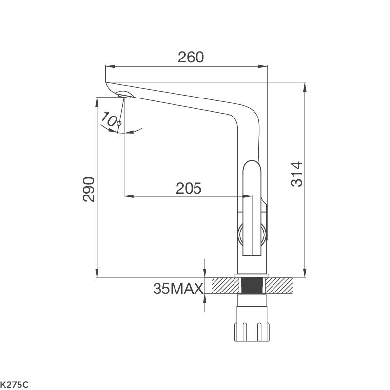 Vòi chậu rửa chén K275C