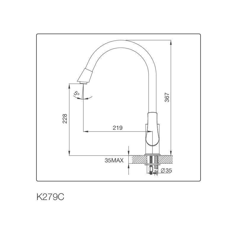 Vòi chậu rửa chén K279C