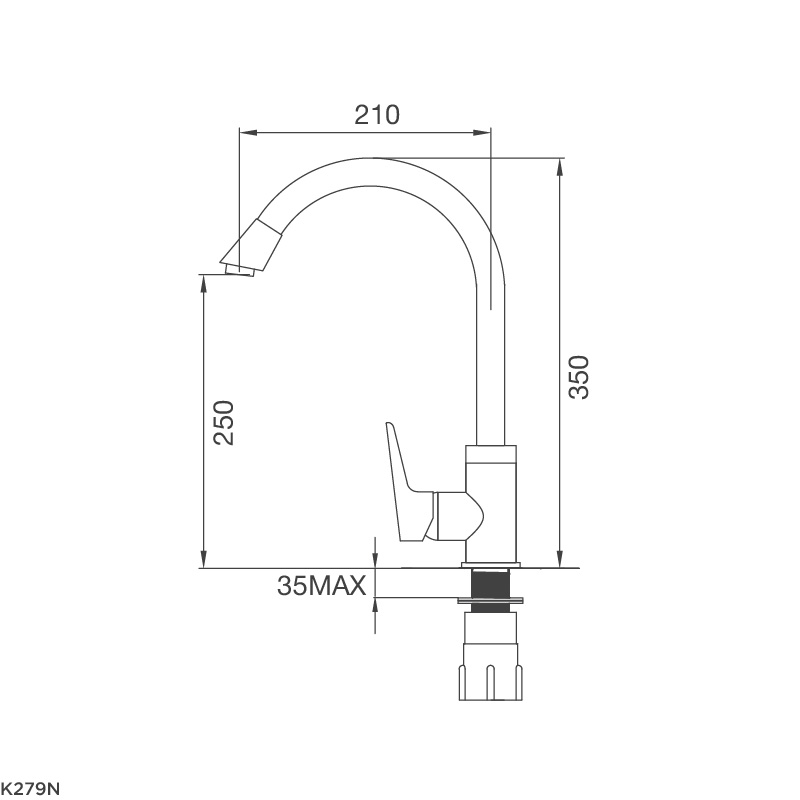 Vòi rửa chén K279N