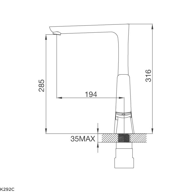 Vòi chậu rửa chén K292C