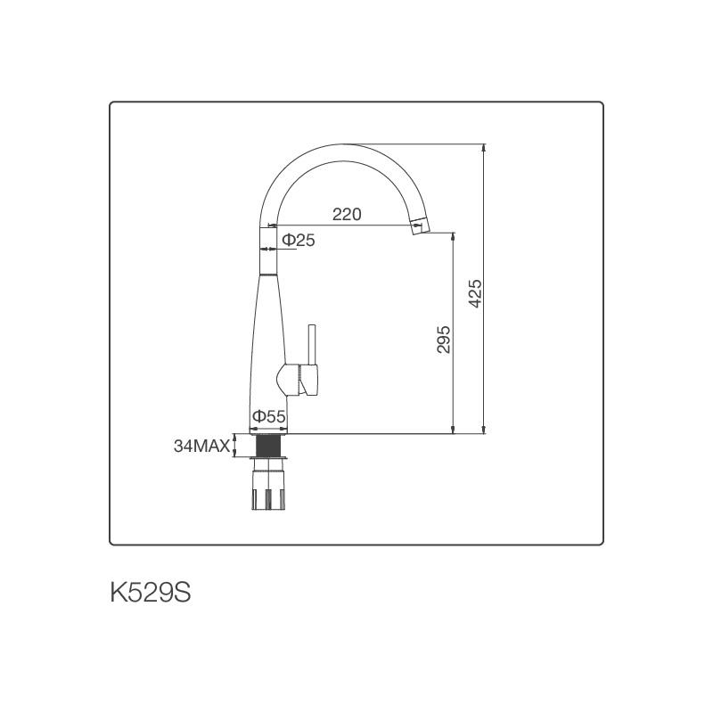 Vòi chậu rửa chén K529-S