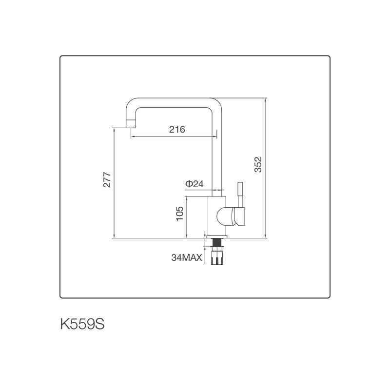 Vòi Chậu rửa chén K559-S