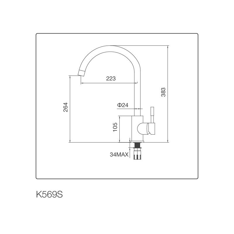 Vòi chậu rửa chén K569-S