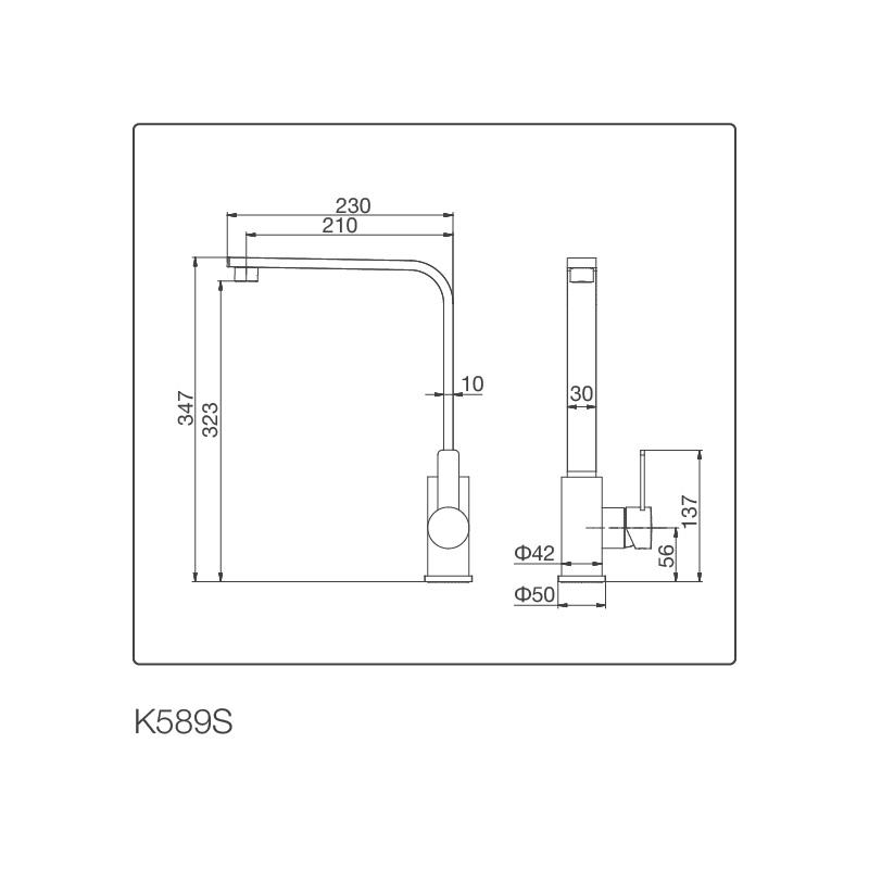 Vòi chậu rửa chén K589-S
