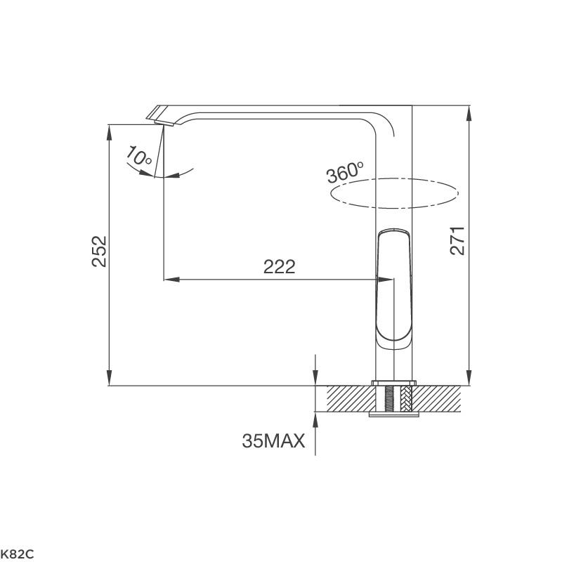 Vòi rửa chén K82C