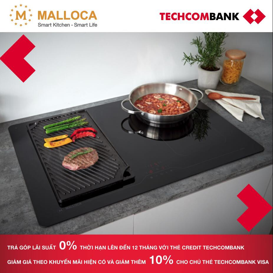 Ưu đãi cho chủ thẻ Techcombank khi mua thiết bị bếp Malloca năm 2019