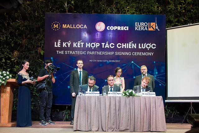 Thiết bị bếp Malloca hợp tác với 2 đối tác lớn châu Âu