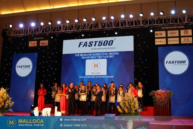 MALLOCA ĐƯỢC VINH DANH TOP 100 SẢN PHẨM TIN & DÙNG- 2016 VÀ FAST 500- 2017